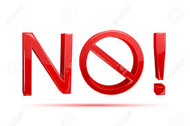 Illustration Of No Written With Forbidden Sign On White Background Stock Vector
