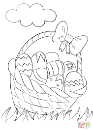 Click The Basket Of Easter Eggs Coloring Pages To View Printable