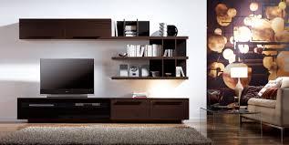 Tv Wall Decor Ideas Brown Wooden Entertainment Center Cabinet Storage Shelf Flet Screen Television Rug Ceramic Floor Lamp Square