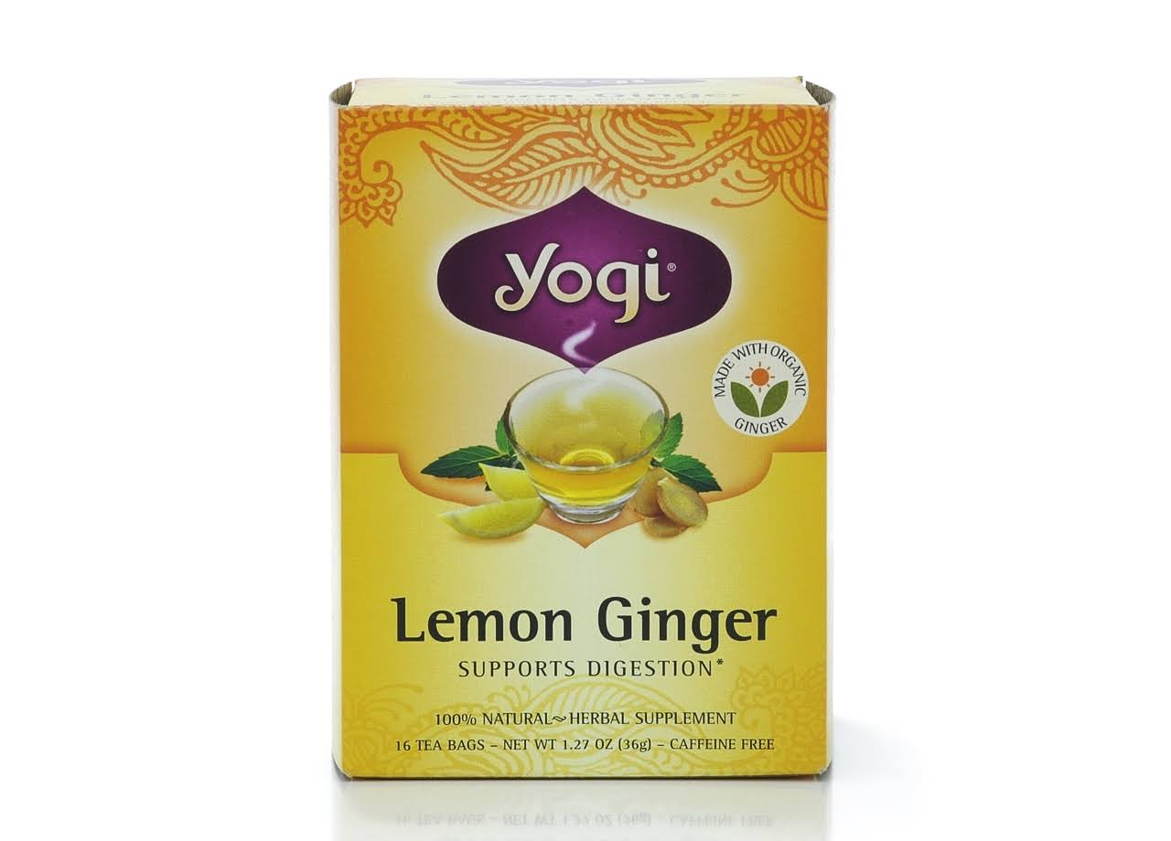 Yogi Tea - Lemon Ginger, 16 Tea Bags