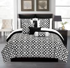Black and White Chevron Bedding and Pillow Elegant Black And