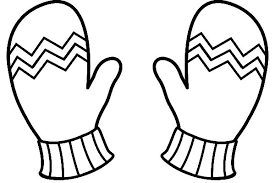 Winter Clothes Mittens Coloring Pages