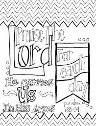 Free Printable Scripture Coloring Page Praise The Lord
