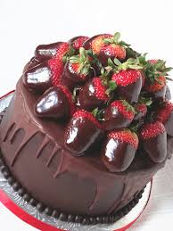 Chocolate and Strawberries Cake I may have to have a little tea party with my
