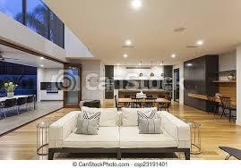 ein großes modernes wohnzimmer großes modernes haus mit