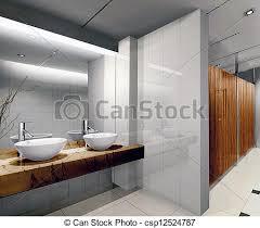 3d Public Bathroom Modern Design Interior Of Stylish Pictures