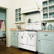 Vintage Style Painting Kitchen Cabinets For Small One Wall Design Look Retro