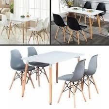 esstisch und stuhl set weiß 4 x holz esszimmer stühle