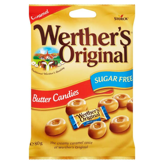 Werthers Original Sugar Free Butter Candy - 80g
