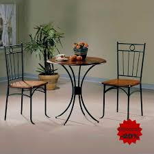 Amazon.com - Metal Dining Table Set Dining Table With 2 Chairs Round ... Ding Room Set Round Wooden Table And Chairs Black 5 Piece Rustic Kitchen Farmhouse 48 Inch Sets Insurserviceonline Unique Extension Khandzoo Home Decor Best Bailey With Turned Legs Rotmans The Kaitlin Miami Direct Fniture Glass Ikea Dinner Comfortable Chair Circular Tables And Amazoncom Pac New 5pc Antique White Wash Cherry Finish Stanley Juniper Dell 5piece Dunk Ashley With Design Material Harbor View 4 Slat Back