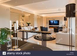 moderne wohn und esszimmer stockfotografie alamy