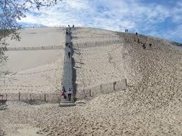 escalier pour monter photo de dune du pilat la teste de buch