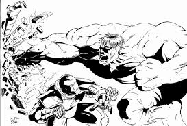 Hulk Vs Iron Man Coloring Pages For Adult