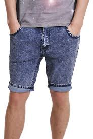 skinny fit acid wash denim shorts