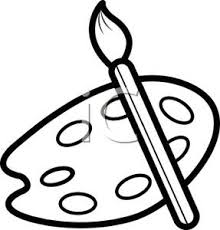 Paintbrush Clipart Black And White