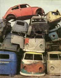 Junkyard With Cool VW Vans And A Bug Maybe I Would Enjoy Doing This In Watercolors