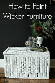How to Paint Wicker Furniture Video Tutorial