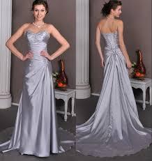 discount silver grey long informal reception wedding dresses