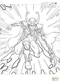Coloring Image Detail Description Avengers Pages Loki Best Page Marvel Black Panther