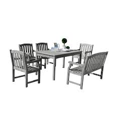 Shop Renaissance Eco-friendly 6-piece Outdoor Hand-scraped ... Raven Farmhouse 6piece Ding Set The Dump Luxe Fniture 132 Inch Round Satin Tablecloth Black 6 Foot Farm Table Kountry Kupboards With 8 Chairs Foot Cedar Table Steves Creations Correll 30w X 72l Ft Counter Height 36h 34 Top Highpssure Laminate Folding Lifetime Foldinhalf White Granite 6foot Plastic Traing 2 Trapezoidal Back Stack Chairs Details About Portable Event Party Indoor Outdoor Weatherproof Buffet New Vintage Oak Refectory Kitchen And In Brnemouth Dorset Gumtree Banquet Seating Decor How To Up For Holiday Parties Lerado 6ft Foldin Half Rect Table Raptor Concept Store