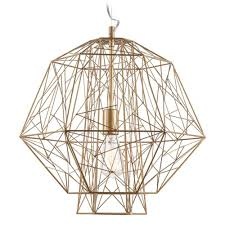 Destinations By Regina Andrew Peacock Lamp by Nuevo Lighting Zeus Gold Cage Pendant Light Pendant Lighting
