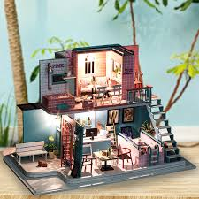 Buy Woodcraft Construction Kit Doll House Room 3d Wooden Vacation
