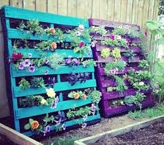 Pallet Garden No One Said You Necessarily Had To Hang Your Hanging Notice That These Pallets Are Perfectly Substantial And Simply Leaning