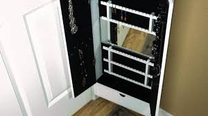 cabidor jewelry storage cabinet behind the door storage youtube
