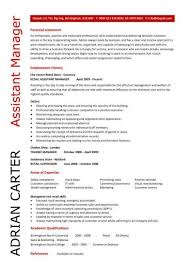 Grocery Manager Resume Assistant 5 Sample