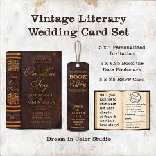 This Gorgeous Personalized Wedding Invitation Set Features A Classic Book Theme Complete With The Look Of Vintage Distressed Leather Binding