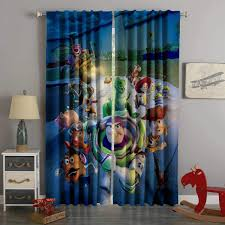 3D Printed Toy Story Style Custom Living Room Curtains Custom