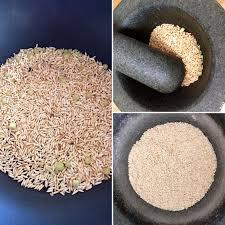 poudre de riz cuisine c est moi qui l ai fait condiment thaï poudre de riz grillé à