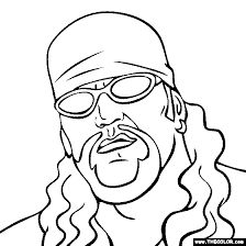 The Undertaker Coloring Page