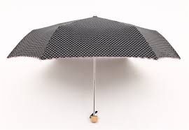 bureau vall bergerac dots style three folding manual handy and sun umbrella
