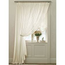 Sheer Curtains For Traverse Rods by Ivory Splendor Batiste Pinch Pleated Drape Pair