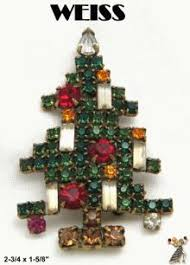 Christmas Tree Pins Vintage Contemporary