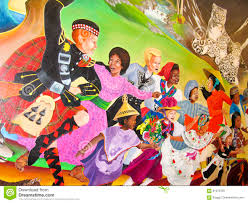 Denver International Airport Murals Painted Over by Children Of The World Dream Of Peace Editorial Stock Image Image