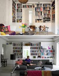 Overhead Wall Book Shelves