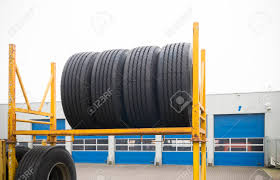 100 New Truck Tires Outdoors Storage Of Brand Stock Photo Picture And