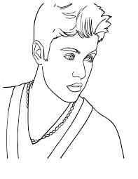 Canadian Pop Singer Justin Bieber Coloring Page