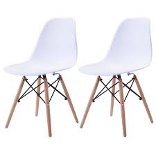 US $64.99 |Giantex Set Of 2pcs Mid Century Dining Chair Modern Wood Legs  Side Chairs White Living Room Furniture HW58931WH 2-in Dining Chairs From  ... Appealing Modern White Ding Chairs Home Furnishings Kit Modern Upholstered Ding Chairs With Arms Crazymbaclub Mid Century Upholstered Chair Avalonitnet Audrey Dark Grey Details About New Set Of 2 Elegant Design Fabric Accent L848 China Colorful Coffee Table Gold Wedding Garden Outstanding Small Room With Rectangle Modrest Legend Black Danish Teak Rope Cord Post Concorde By Torstein Flaty Norway 1980s Of 4 For Walmartcom