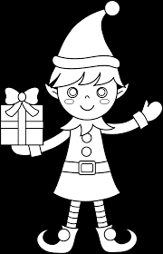 Terrific Christmas Elves Coloring Pages With Cute And