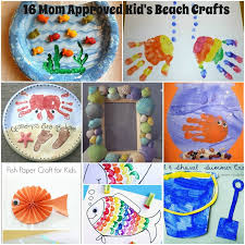 Toddler Craft Beach Scene Being The Carruths With Regard To Kids Crafts Archives Mother2motherblog