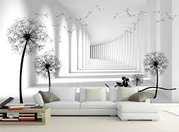 schwarz weiße ziegel glitter 3d tapete wandmalereien wände