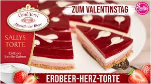 erdbeer herz torte zum valentinstag coppenrath und wiese nachgemacht original trifft sally