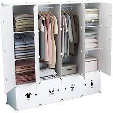 koossy erweiterbares regalsystem stabiles steckregal kleiderschrank für kinderzimmer wohnzimmer und schlafzimmer weiß 880l 147 x 147 x 47 cm