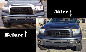 Painting Over Chrome Tundra Grill Surround - YouTube