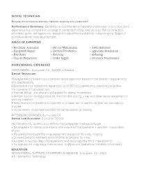 Chemistry Lab Technician Resume Sample For Laboratory Dental