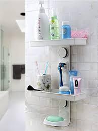 feibrand badezimmer organizer duschregal mit saugnäpfe ohne bohren wand weiß