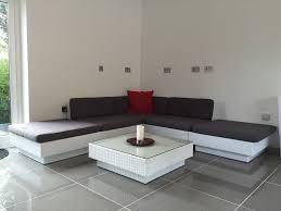 Ebay Patio Furniture Sectional by Contemporary Rattan Corner Sofa Set In White Rattan Rattan Sofa